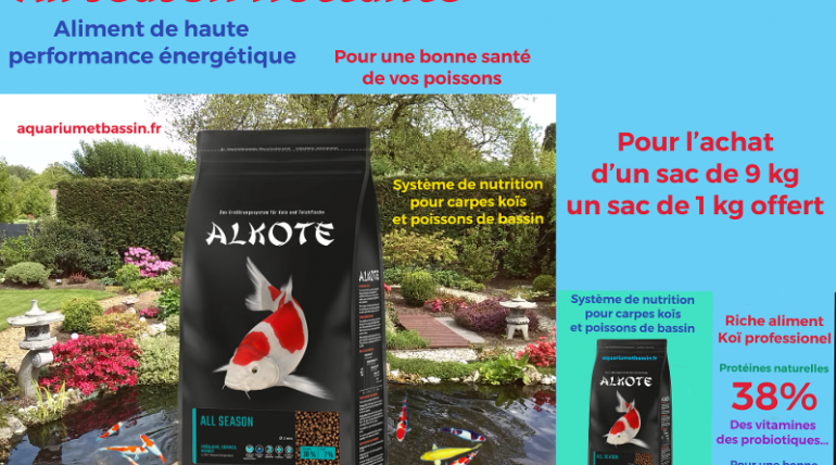 ALKOTE : Nourriture de qualité pour vos carpes koi et poissons de bassin